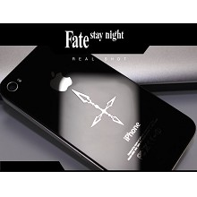 Fate anime metal mobile phone stickers