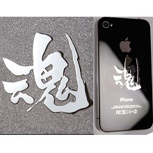 Gintama anime metal mobile phone stickers