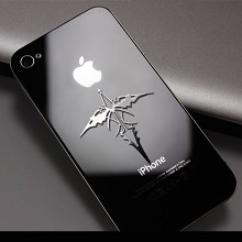 Guilty Crown anime metal mobile phone stickers