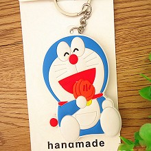 Doraemon anime two-sided key chain