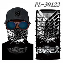 Attack on Titan anime headgear stocking mask magic scarf neck face mask