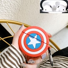 Captain America Airpods 1/2 shockproof silicone co...