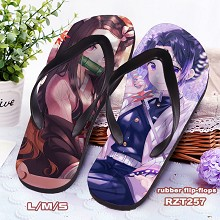 Demon Slayer anime flip-flops shoes slippers a pai...