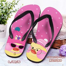 DUDUDUCK anime flip-flops shoes slippers a pair