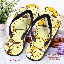 Pom Pom Purin anime flip-flops shoes slippers a pa...