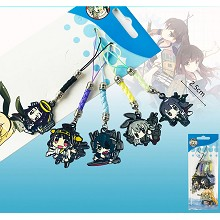 Collection anime phone straps(5pcs a set)
