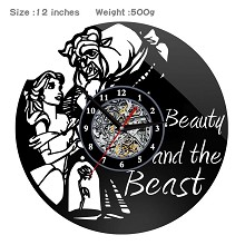 Beauty and the Beast anime wall clock