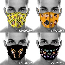 One Piece anime trendy mask printed wash mask