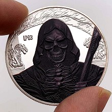 wizard skeleton Commemorative Coin Collect Badge L...