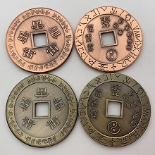 Taoism Commemorative Coin Collect Badge Lucky Coin...