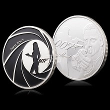 Agent 007 Commemorative Coin Collect Badge Lucky C...
