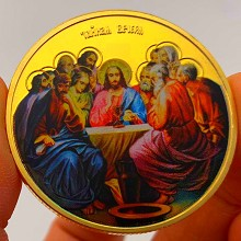 Jesus Commemorative Coin Collect Badge Lucky Coin ...
