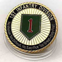 USMC Commemorative Coin Collect Badge Lucky Coin D...