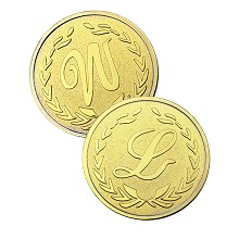 W gold Commemorative Coin Collect Badge Lucky Coin...