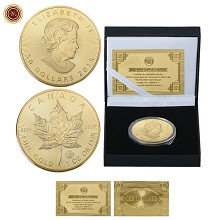 Canada Commemorative Coin Collect Badge Lucky Coin...