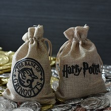 Harry Potter Commemorative Coin Collect Badge Lucky Coin Decision Coin linen bag