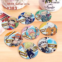 One Piece anime brooches pins set(8pcs a set)