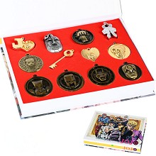 JoJo's Bizarre Adventure anime key chains a set