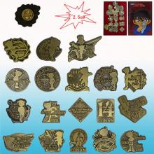 Detective conan 18th brooches pins(18pcs a set)