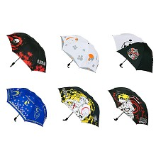 Tokyo ghoul one pice naruto anime umbrella