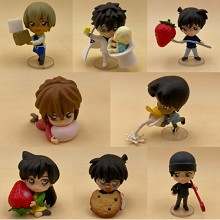 Detective conan anime figures set(8pcs a set)