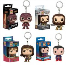 Funko-POP Wonder Woman/The Flash/Super man figure doll key chain