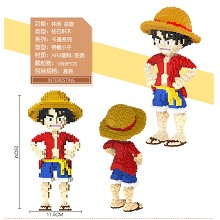 One Piece luffy anime building block 1899pcs a set