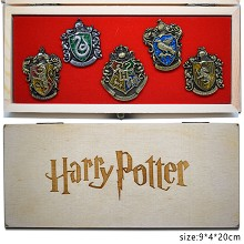Harry Potter brooch pins set(4pcs a set)