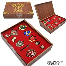 The Legend of Zelda key chains a set