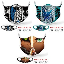 Attack on Titan anime trendy mask printed wash mask