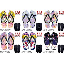 Sailor Moon anime flip flops shoes slippers a pair