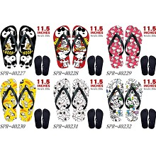 Snoopy anime flip flops shoes slippers a pair
