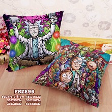 Rick and Morty anime two-sided pillow