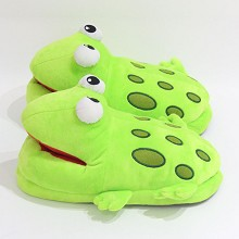 The frog plush shoes slippers a pair 280MM