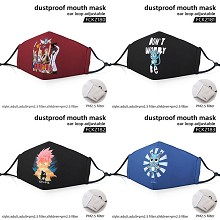 Fairy Tail anime dustproof mouth mask trendy mask