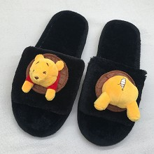 The Pooh anime plush shoes slippers a pair 250MM