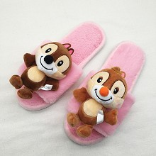 Chip and Dale anime plush shoes slippers a pair 25...