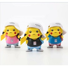 Pokemon Pikachu anime figures set(3pcs a set) no b...