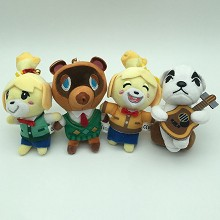 4inches Animal Crossing game plush dolls set(4pcs a set)