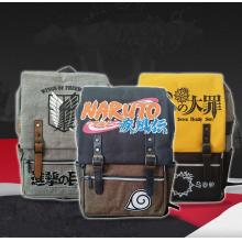 Naruto/Attack on Titan/My here anime backpack bag