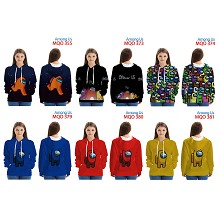 Among Us game long sleeve thin hoodies clothllet